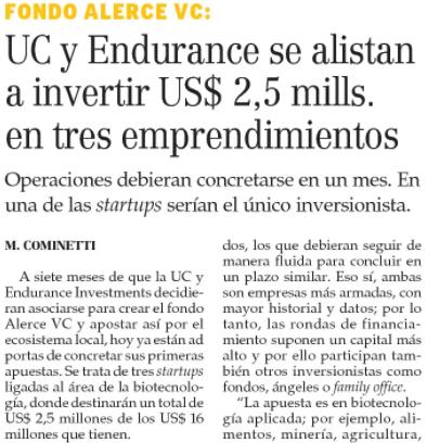 Fondo Alerce se alista para invertir US$ 2,5 millones en tres emprendimientos
